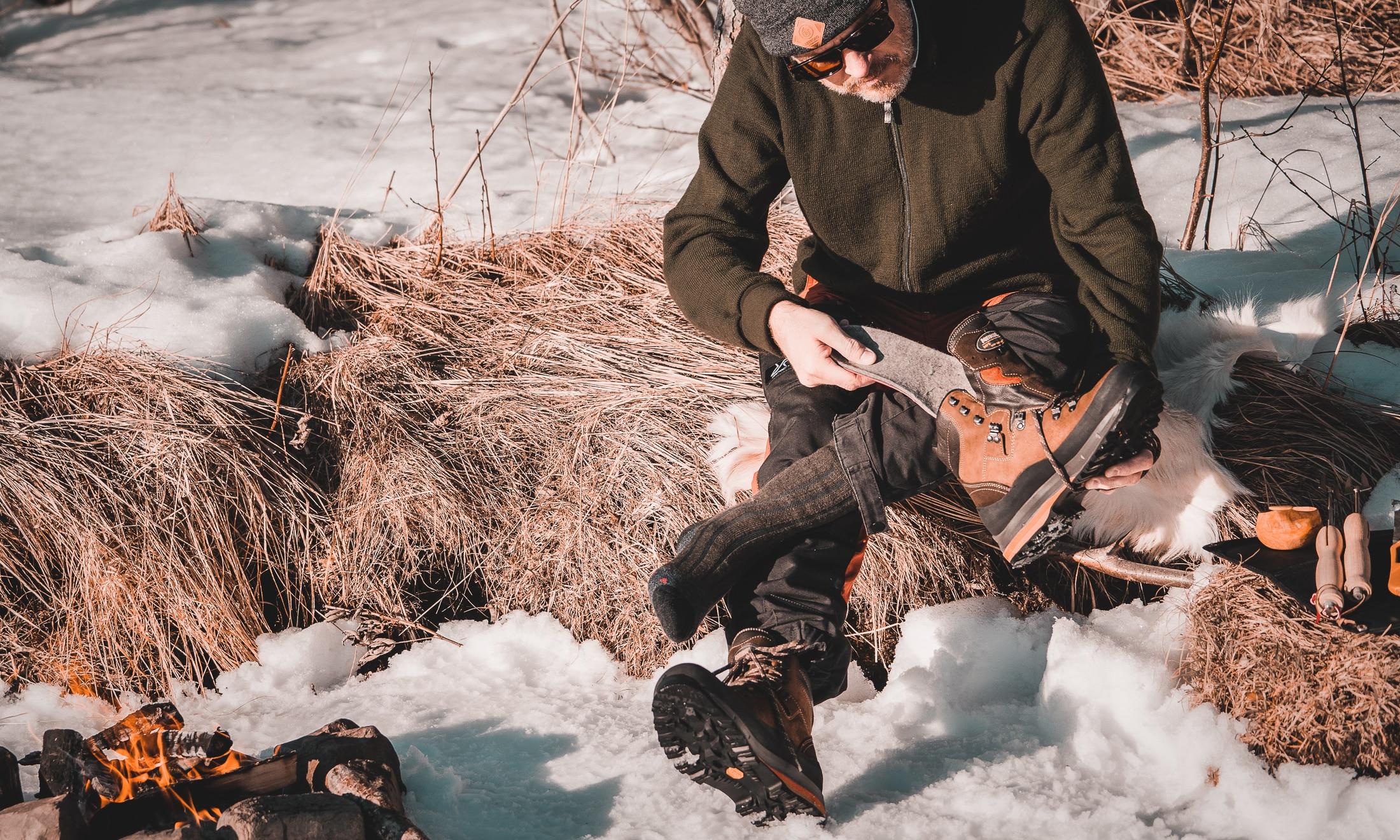 Vinterbona kängorna